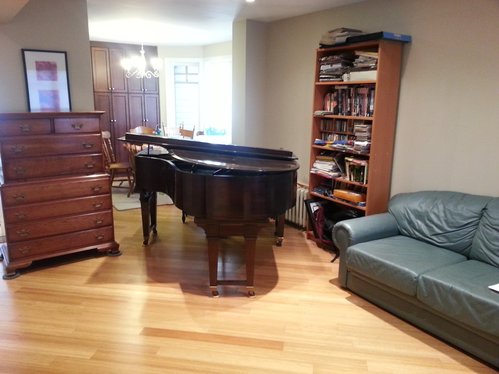 new home for the grand piano